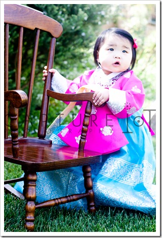 Alyssa…in her traditional Korean outfit